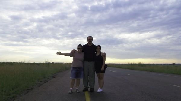 Cris, Pieter e eu