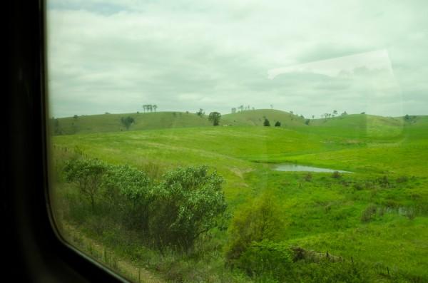 Vista da janela do trem